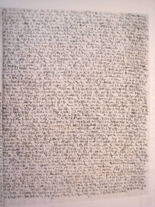 Walser'ın 'minik yazı'larından biri.